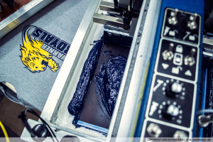 Above photo of Warner Royals shirt being printed.