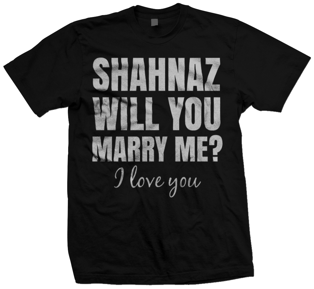Marriage proposal design featuring the words Will You Marry Me?