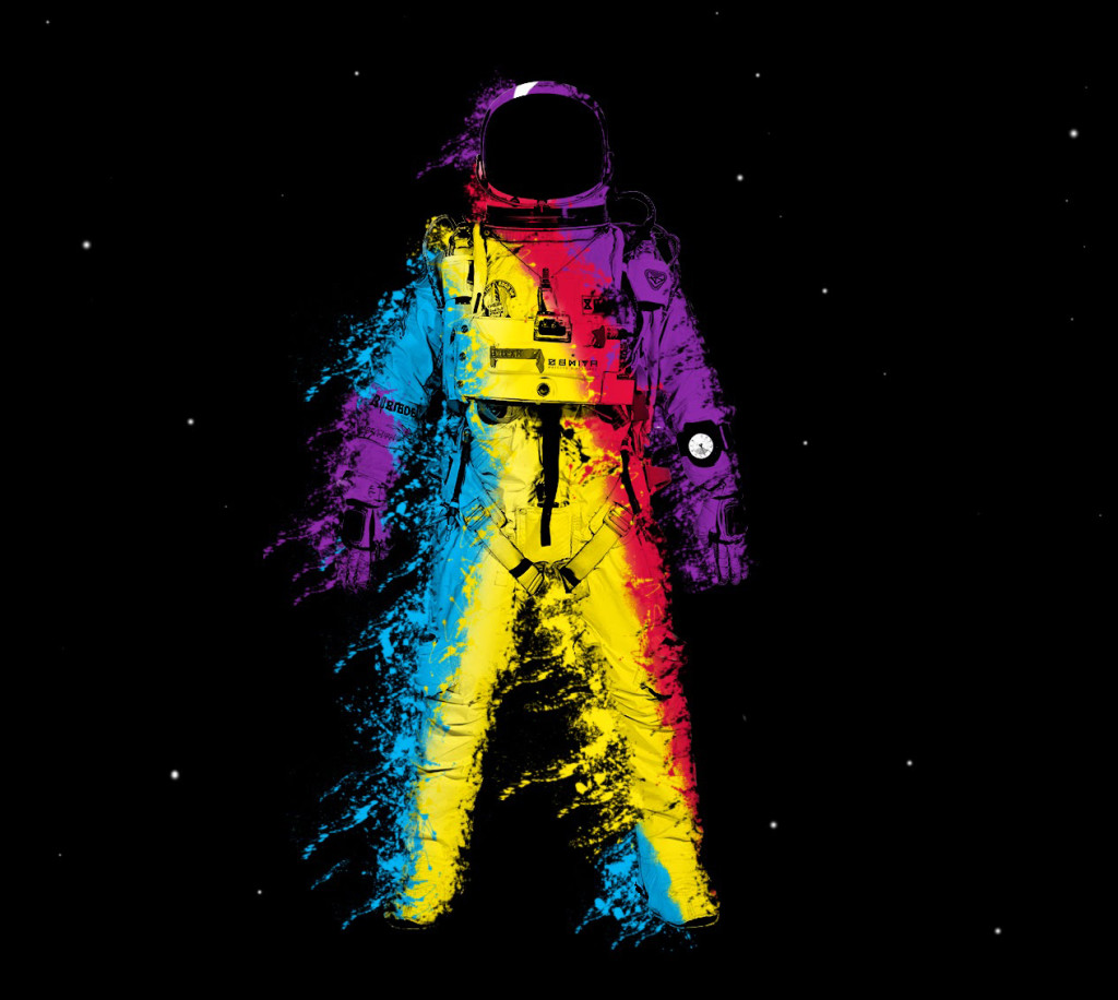 Rainbow Colored Astronaut
