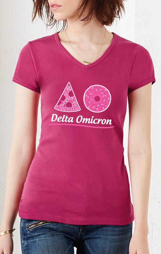Delta Omicron Pizza Doughnut Shirt Design