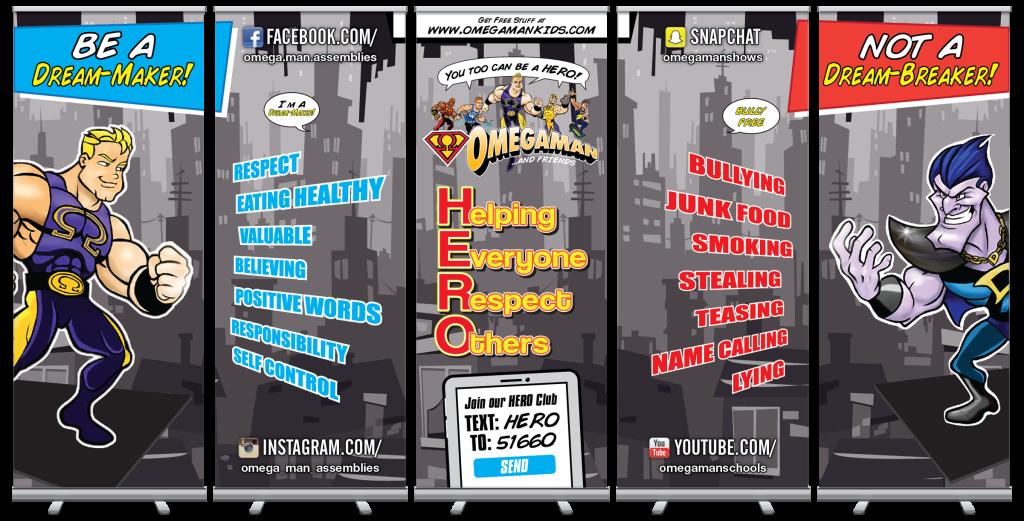 Omegaman Antibullying Retractable Banner Set
