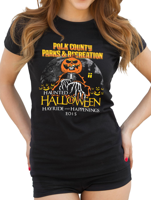 polk count parks and rec haunted halloween hay ride and happenings shirt