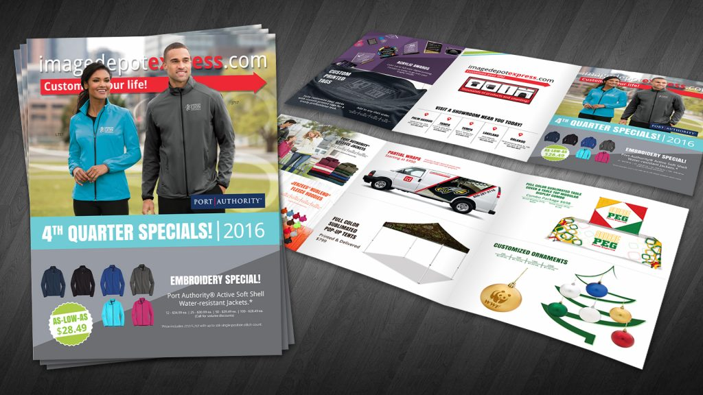 Quarterly specials flier design brochure