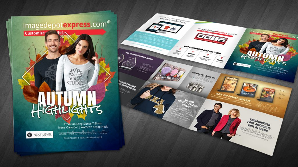 Autumn flier design tri-fold brochure
