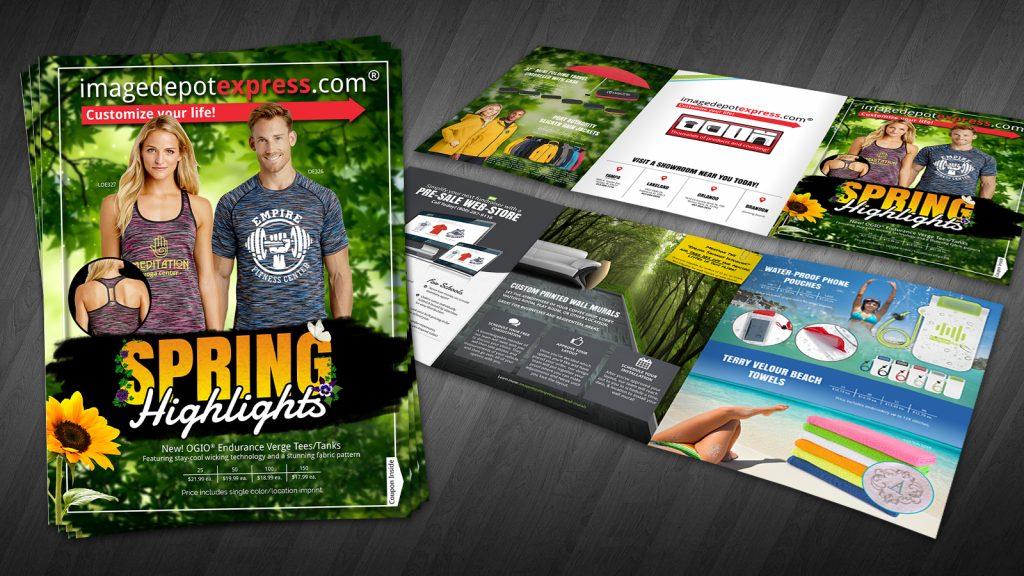 Spring brochure tri-fold flier