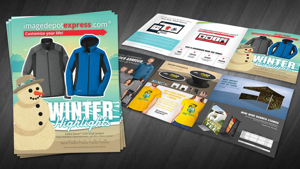 Tri-fold Winter Brochure Catalog